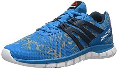 Reebok Men's Sublite XT Cushion MT Running Shoe, Grft - Blue Sport/Collegiate Navy/Tin Grey/White, 9 M US
