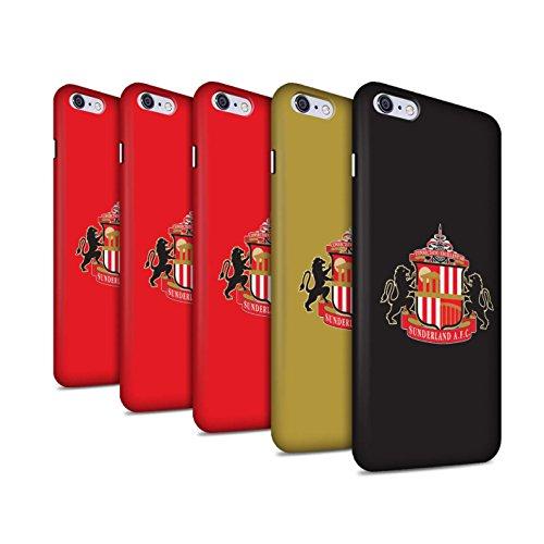 Offiziell Sunderland AFC Hülle / Matte Snap-On Case für Apple iPhone 6S+/Plus / Pack 6pcs Muster / SAFC Fußball Crest Kollektion Pack 6pcs