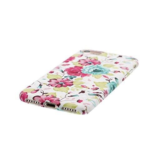 iPhone 7 Custodia, | TPU Case Cover protettiva antiurto TPU Resistente ai graffi Shell Skin | Giovane modello | Copertura per iPhone 7 - peonia fiore - Per ragazze signore Color 1