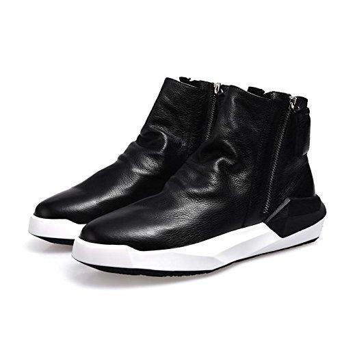 Martin homme fashion en cuir et bottes de loisirs UK plateforme tendance pour l'automne/hiver