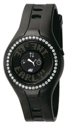 Puma Time PU910222002 - Orologio da polso da donna, cinturino in plastica colore nero