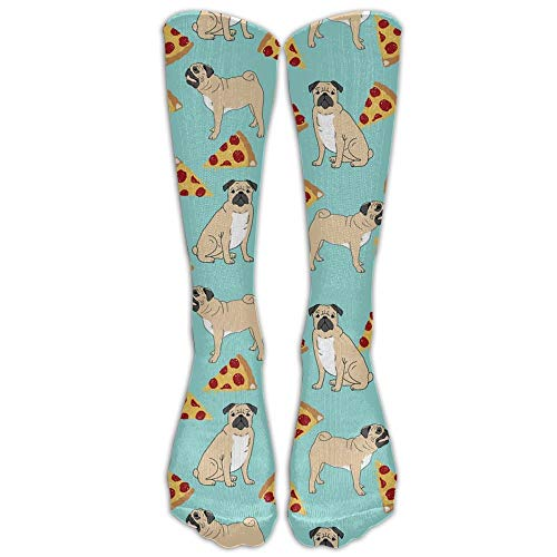 Dot Skimmer (Funny Vector Dogs Pug Puppies Pattern Pizza Comfort Cool Vent Crew Socks 19.68 in/50 cm)