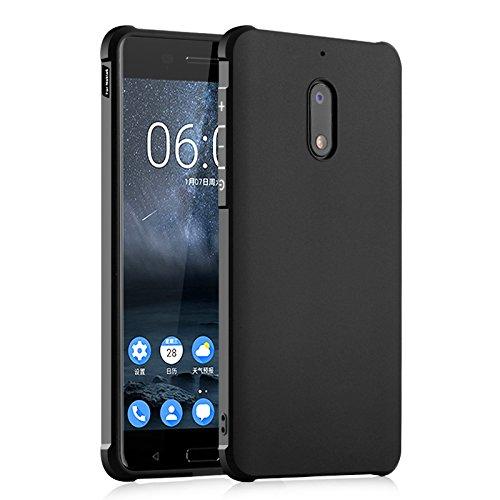 SMTR Nokia 6 Hülle mit Silikon TPU Material und Farblich Muster Schutzhülle Handytasche für Nokia 6 -Schwarz