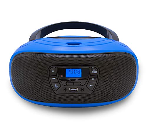 CD-Player | Tragbares Stereo Radio | Kinder Radio | Stereoanlage | USB | CD/MP3 Player | Radio | Kopfhöreranschluss | Aux in | LCD-Display |