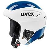 Uvex Unisex - Adulto Race + Casco da sci, Bianco, 56-57