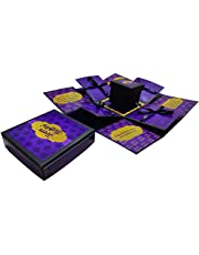 Easycraftz Purple Birthday Chocolate Explosion Box (Without Chocolates)