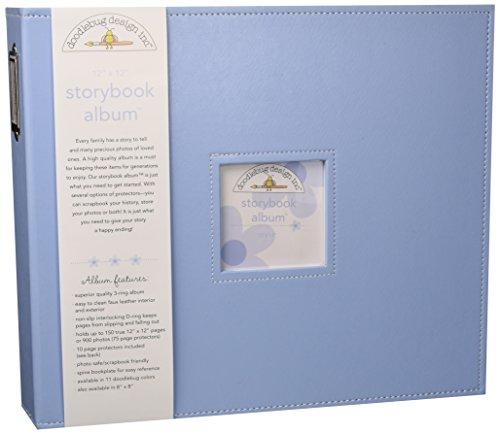 Doodlebug Design Bubble Blue Storybook für Scrapbooking, 30,5 x 30,5 cm - Doodlebug Doodlebug Design Album
