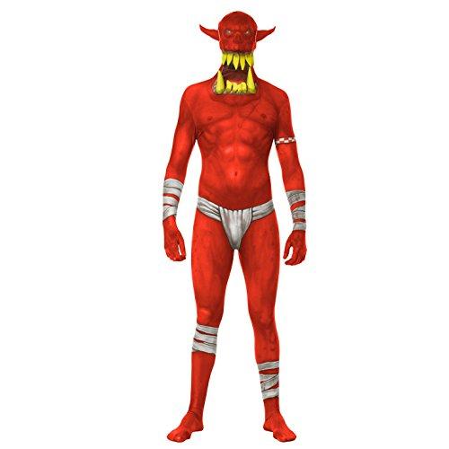 Morphsuit Kiefer Dropper Orc Clown Halloween Fantasie Kleid M-XXL morphsuits (Roter Kiefer Dropper Orc Kostüm) (XL 5