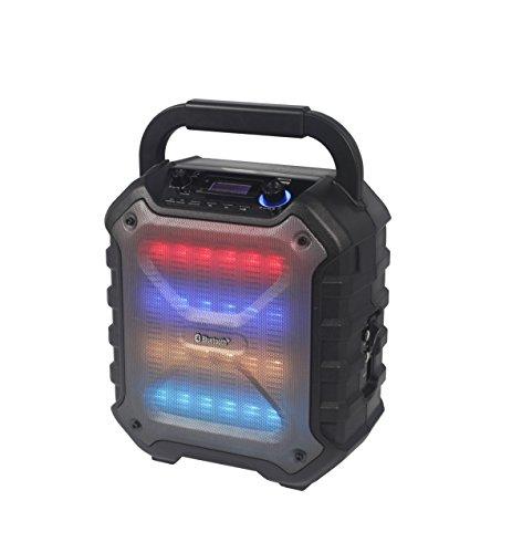 Reflexion PS06BT kompakte PA-Anlage, mobil mit Akku, Lichteffekten und Karaoke-Funktion (Bluetooth, USB, AUX, 160 Watt), schwarz