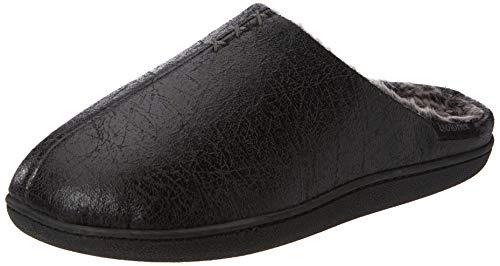 mejor selección servicio duradero precio moderado Isotoner Distressed Mule Slippers, Zapatillas de Estar por casa para  Hombre, Negro (Black BLK), 43 EU