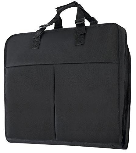 Kleidersack Anzughülle für bis zu 3 Anzüge,Atmungsaktiver Reise Kleidersack mit Tragegriffen und Druckknopfverschlüssen/Stabiler Hochwertiger Anzugsack 56 cm * 101 cm (Schwarz, 101 cm)