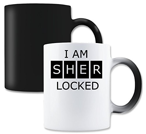 LukeTee I Am Sherlocked Magische Tee-Kaffeetasse