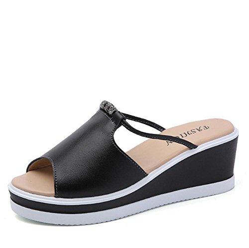 Sommer Hausschuhe Dame vermissen die dicken unteren Kiefer Kuchen Strand Schuhe 2