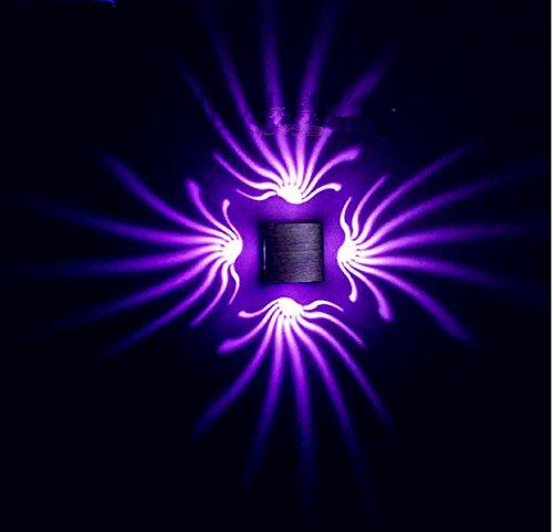 3W LED Wandleuchte Ambient Light -Wandhalterung Beleuchtung violett (Birne Gold-wandhalterung)