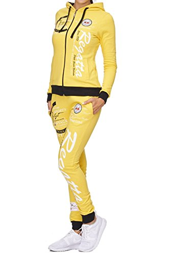 MT Styles ensemble pantalon de sport + sweat-Shirt jogging survêtement REGATTA L-672 Jaune