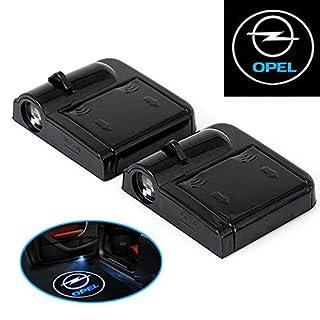 A72 2 Stück Wireless Auto Tür Licht LED Willkommen Projector Logo für Auto OPEL