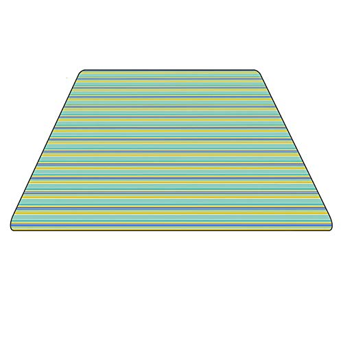 Picknickdecke XXX-Large Außenbereich mit wasserfester Unterlage - 200 x 200 cm Beach Rug Mat - Zusammenklappbar und tragbar Ideal für Strand, Reisen, Festival, Camping - Rote und Blaue Streifen