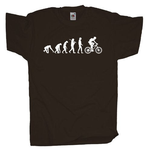 Ma2ca - Evolution - Biker Fahrrad T-Shirt Chocolate