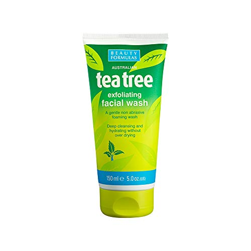 Beauty Formulas Tea Tree Exfoliating Facial Wash 150ml - Fresh Foaming Cleanser