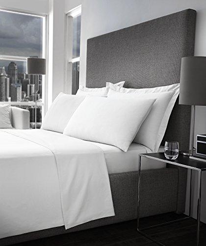 STYLELIVING Bettwäsche-Set TC 600, einfarbig, super Qualität, 100% ägyptische Baumwolle, Weiß, weiß, King Size - 600 Tc Bettwäsche Aus Ägyptischer Baumwolle