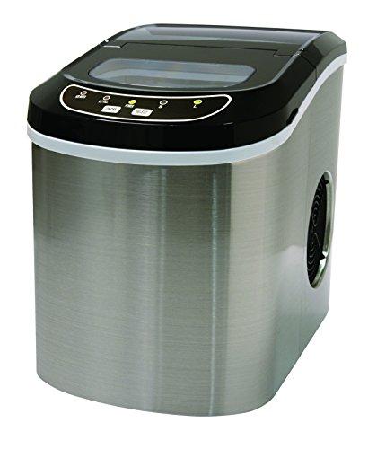 Ice Appliance Super Fast Ice Maker Stainless Steel, 95 Watt