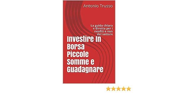 ad7b00bde5 Investire In Borsa Piccole Somme e Guadagnare: La guida chiara e diretta  per i neofiti e non del settore eBook: Antonio Trusso: Amazon.it: Kindle  Store