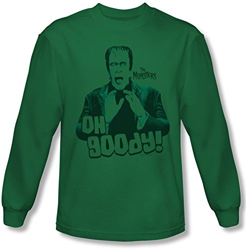The Munsters - - Männer Oh Goody Langarm-Shirt In Kelly-Grün Kelly Green
