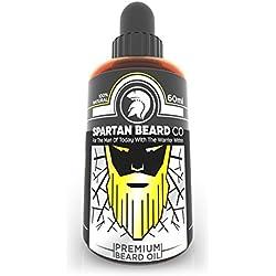 Spartan Beard Co Bartöl | Beard Oil | 7 Hochwertige Ätherische Öle Für Die Gesundheit Von Bart, Gesicht Und Haut | Bart-Conditioner & Bart-Wachstumsserum | Treten Sie Der Elite-Methode Der Bartpflege Bei