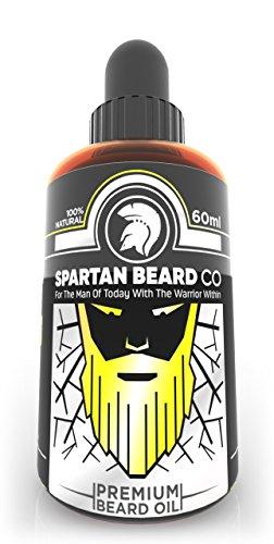 Spartan Beard Co Bartöl | Beard Oil | 7 Hochwertige Ätherische Öle Für Die Gesundheit Von Bart, Gesicht Und Haut | Bart-Conditioner & Bart-Wachstumsserum | Treten Sie Der Elite-Methode Der Bartpflege Bei (Bart-gesicht)