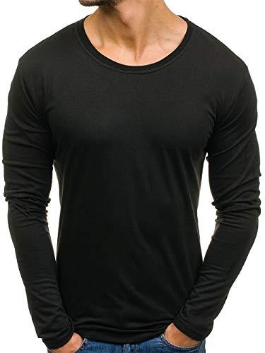 Preisvergleich Produktbild Swallowuk Männer Langarmshirt Casual Slim Fit V-Ausschnitt Hemd Bluse Sports T-Shirt Pullover Sweatshirts Streetwear Tops (XL