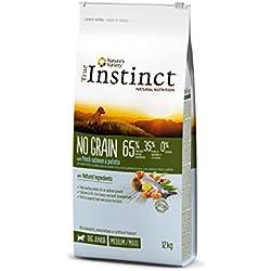 True Instinct Nourriture sans Céréales Junior Medium-Maxi Saumon pour Chien 12 kg