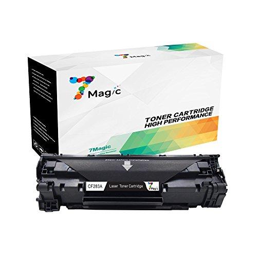 7Magic Kompatibel HP 83A CF283A Toner Patronen für HP Laserjet Pro MFP M225DW M225DN M125NW M125A M127FW M127FN M201DW M201N M220 Drucker (1 Schwarz)