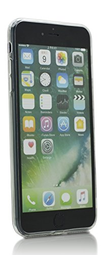 iProtect TPU Schutzhülle Apple iPhone 7 Plus, iPhone 8 Plus Softcase Hülle 'Everyday' Motto Schwarz scared Donuts