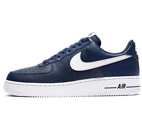 Nike Herren AIR Force 1 '07 AN20 Basketballschuh, Midnight Navy White, 46 EU