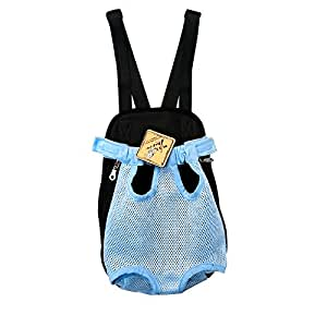 anself pet bag hundekatzentransport f nf l cher haustier rucksack der brust rucksack hellblau. Black Bedroom Furniture Sets. Home Design Ideas