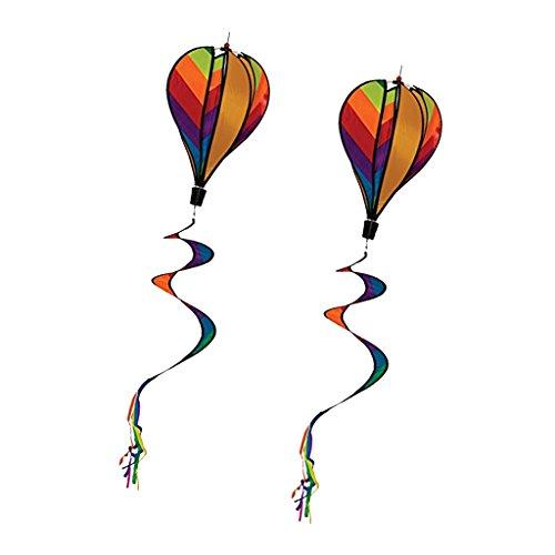 Ballon bunt Heißluftballon Windspinner Windspirale Gartendekoration ()