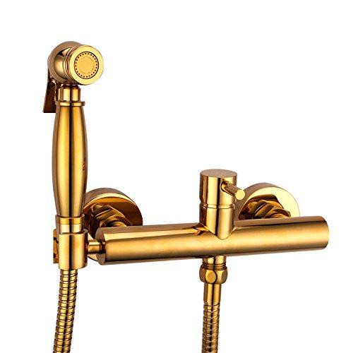 GFEI le titane or cuivre chaud et froid à toute pressurisation de pistolet pulvérisateur costume / wc à flushing robinet