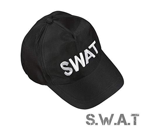 Damen Swat Kostüm - TK Gruppe Timo Klingler S.W.A.T Polizei Cap Kappe Schilmütze Basecap Swat FBI Mütze als Kostüm Accessoire Verkleidung Kostüm Damen & Herren, Fasching Karneval