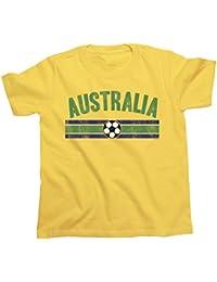 Niños O Niñas Australia Distressed Country Fútbol Camiseta Copa Mundial ...