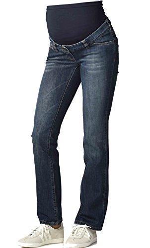 Christoff Umstands-Jeans Hose Boot-Cut Comfortbund - 373/91/8 (48/30 (Herstellergröße: 48/30L), Blau - Denim) Maternity Bootcut-hose