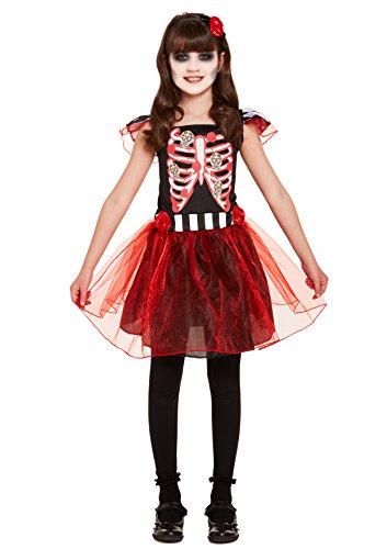 Emmas Wardrobe Tag der Toten Outfit- Mädchen Mexikanische Senorita Kleid Abendkleid des Karnevals (7-9 Years, (Dia De Los Muertos Mariachi Kostüm)