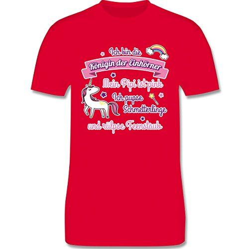 Statement Shirts - Königin der Einhörner - Herren Premium T-Shirt Rot