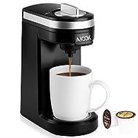 Tra tutte la macchina del caffè, Aicok compatto K-Cup caffè fornisce sempre un caffè fresco e delizioso, non importa dove ti trovi. (Leggera e buona per il viaggio).Più dettagli K-Cup Design - adatta per la maggior parte K-Cups e filtri per ...