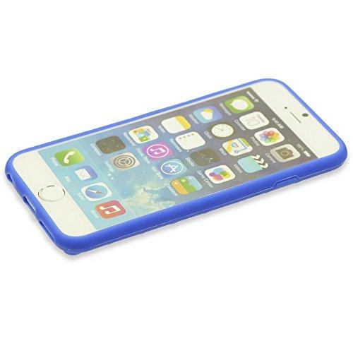 OBiDi - 3D Brique Coque en Silicone / Housse pour Apple iPhone 6 / 6S (4.7 inch)Smartphone - Rouge rose
