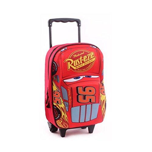 Cars 3 sac a dos 3d a roulettes garçon 31 cm