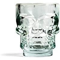 Kikkerland GL06 Skull - Vasos de chupito (4 unidades), diseño de calavera