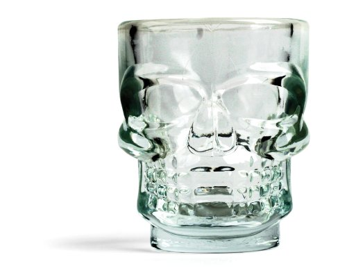 Kikkerland GL06 Skull - Vasos de chupito (4 unidades), diseño de cala