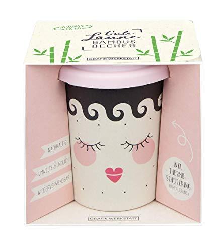 Grafik Werkstatt Bambus Kaffe-Becher | Coffee-to-Go | Geschenk | Bamboo-to-Go | Dankeschön | 350 ml | Sleeping Beauty -