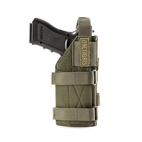 OneTigris 1000D Nylon Taktische Molle Pistolenholster Gürtelholster für Pistolen (Waldläufer-Grün)