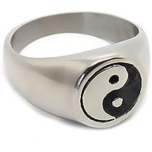 bague homme argent yin yang